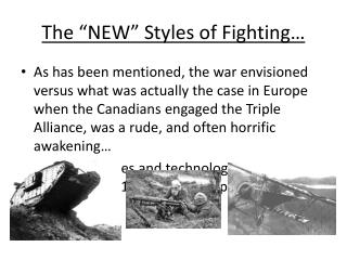 """The """"NEW"""" Styles of Fighting…"""