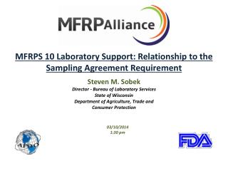 MFRPS 10 Laboratory Support: Relationship to the Sampling Agreement Requirement