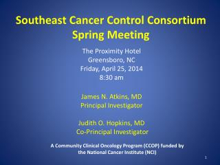 Southeast Cancer Control Consortium  Spring Meeting