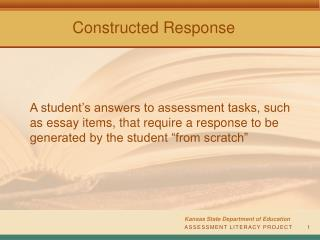 ASSESSMENT LITERACY PROJECT