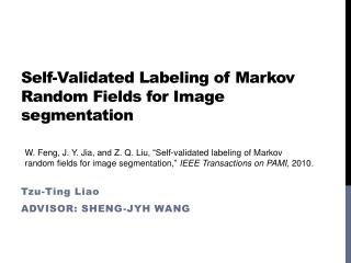 Self-Validated Labeling of Markov Random Fields for Image segmentation