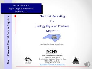 Instructions and  Reporting Requirements Module  10