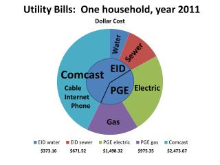 Utility Bills:  One household, year 2011