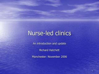 Nurse-led clinics