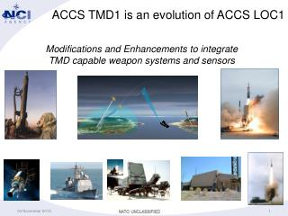 ACCS TMD1 is an evolution of ACCS LOC1
