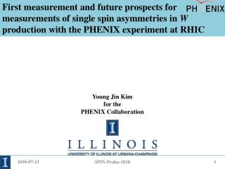 Young  Jin  Kim f or the PHENIX Collaboration