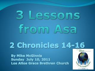 3 Lessons from  Asa
