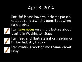 April 3, 2014