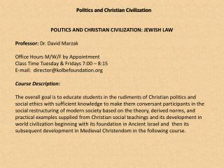 Politics and Christian  Civilization