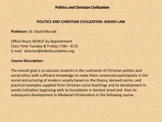 Politics and Christian  Civilization