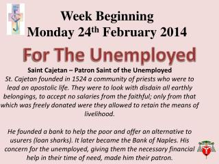 Week Beginning  Monday  24 th February  2014