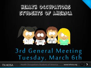 3rd  General Meeting Tuesday,  March 6th