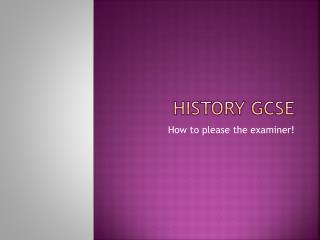 History GCSE