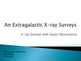 An Extragalactic X-ray Surveys