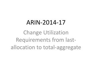 ARIN-2014-17