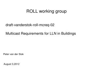 ROLL working group