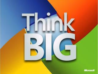 Relacionamiento con Productores de Software Microsoft Colombia microsoft/Colombia/ThinkBIG