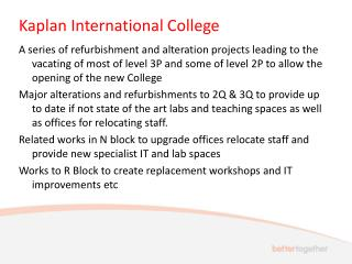 Kaplan International College