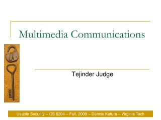 Multimedia Communications