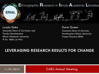Leveraging research results for change