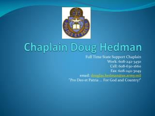 Chaplain Doug Hedman