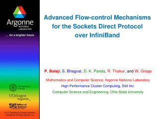 Advanced Flow-control Mechanisms for the Sockets Direct Protocol over InfiniBand