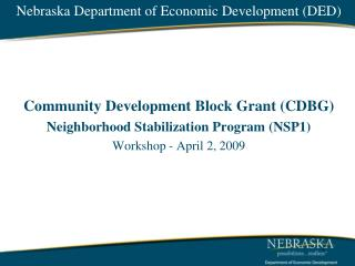 Nebraska Department of Economic Development DED