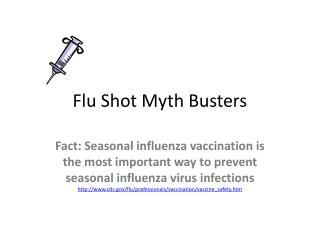 Flu Shot Myth Busters