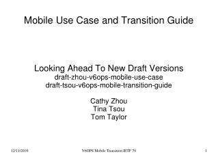Mobile Use Case and Transition Guide