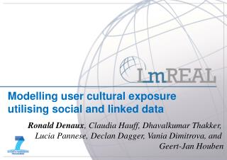 Modelling user cultural exposure utilising social and linked data