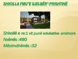 """Shkolla  FMU""""E  Gjelbër """"- Prishtinë"""