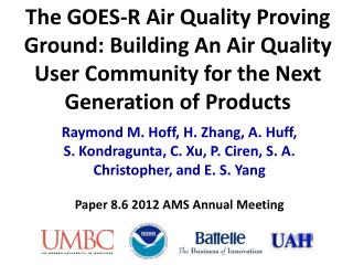 Paper 8.6 2012 AMS Annual Meeting