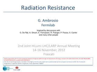 Radiation Resistance