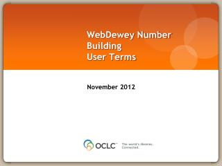 WebDewey  Number Building User  Terms