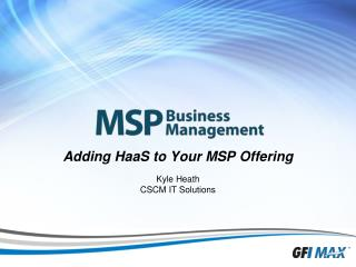 Adding  HaaS  to Your MSP Offering