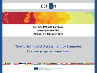 Territorial  Impact Assessment of Scenarios An expert  judgement  experiment