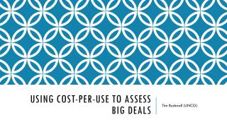 Using Cost-Per-Use to assess  Big Deals