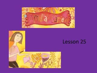 Lesson 25