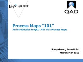 "Process Maps ""101"" An introduction to QAD .NET UI's Process Maps"