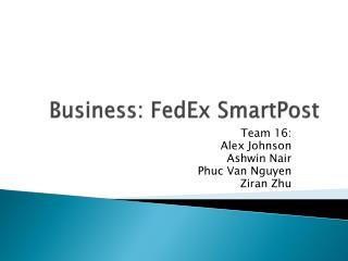Business: FedEx  SmartPost
