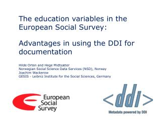 The education variables in the European Social Survey: