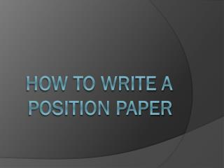 How to write a presentation paper