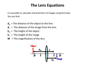 The Lens Equations