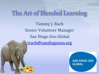 Tammy J. Rach Senior Volunteer Manager San Diego Zoo Global trach@sandiegozoo