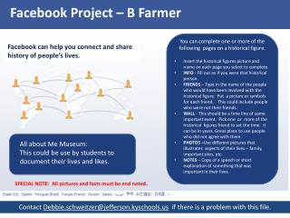 Facebook Project  –  B Farmer