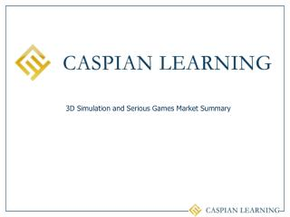3D Simulation and Serious Games Market Summary