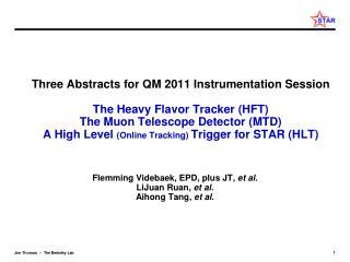Flemming Videbaek, EPD, plus JT,  et al. LiJuan Ruan ,  et al. Aihong Tang,  et al.
