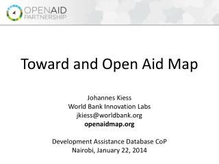 Toward and Open Aid Map