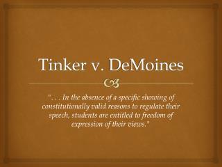 Tinker v.  DeMoines