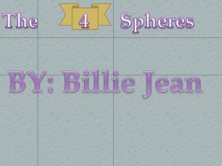 BY: Billie Jean